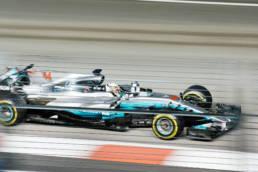 Lewis Hamilton driving Mercedes F1 car